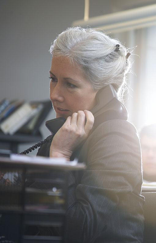 woman on phone about social security disability claim